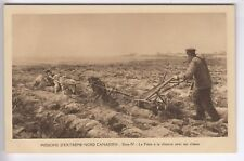 CPA  AMERIQUE CANADA -  MISSIONS NORD CANADIEN CHARRUE AVEC CHIENS 1910  ~D03