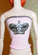 Pink Doll Shirt Crown Front ONLY Fits: Barbie Silkstone Articulated ONLY