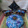 "16X16 Pillow Cover Set With 24"" Round Floor Pillow Cover Hippie Zodiac Astrology"