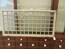 """UNIQUE c1900 MISSION style TUDOR window frame 72 lites OLD white paint 48"""" x 24"""""""