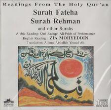 QARI SADAQAT ALI - SURAH FATEHA-RAHMAN & OTHER SURAH WITH ENGLISH TRANSLATION CD