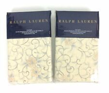 Ralph Lauren Home Madalena Audrey TWO King Pillow Shams Beige Floral New