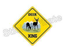 "*Aluminum* Deer Crossing Funny Metal Novelty Sign 12""x12"""