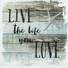 4x Paper Napkins - Live the Life - for Party, Decoupage Craft