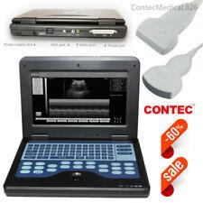 CE CMS600P2 Digital Ultrasound Scanner Laptop Machine Convex+Linear 2 Probes