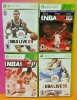 XBOX 360 Sport Game Lot NBA Basketball Live 09 10 2K11 2K16 - Tested EA Sports