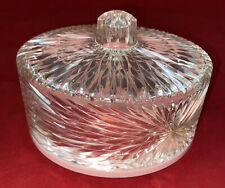 Vintage Celebrity Pink & Clear Vanity Acrylic Plastic Lucite Dusting Powder Box
