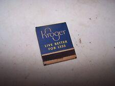 Vintage KROGER Matchbook - Camel Pall Mall Lucky Srike Old Gold Chesterfield