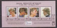 1998 Princess Diana Memorial Stamp Sheet MNH British Virgin Islands SG MS989
