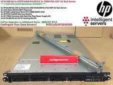 HP DL360 G6 2x X5570 64GB P410i/512 2x 750W PSU 4SFF 1U Rack Server