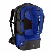 NEW BLACK WOLF CUBA 65L TRAVEL DAY PACK BACKPACK RUCKSACK CAMPING HIKING BLUE