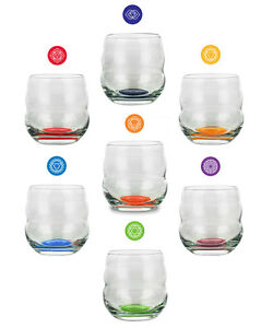 NATURES DESIGN - CHAKRA AFFIRMATION GLASS  (CHOICE OF 7 DIFFERENT CHAKRAS)