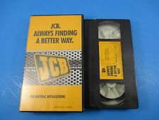 JCB VHS Tape In Case JCB Fastrac Applications White Marsh MD Approx 12 Minutes