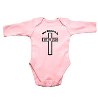 Funny Baby Infants Babygrow Romper Jumpsuit - What Would Jesus Do Cross
