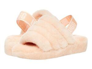 UGG Women's Fluff Yeah Slide Slipper 1095119 Scallop Sz 5-12 NEW
