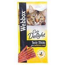 Webbox Cat or Kitten Delight Tasty Sticks 8 Pack Deal 4 Delicious Flavours 8 X Chicken & Liver
