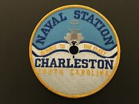 US NAVAL STATION CHARLESTON, SOUTH CAROLINA PATCH MEASURES 5 INCHES DIAMETER