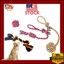 Dog Christmas Toys Gift Accessories Durable Chew Play Pack - 4pcs Multicolor Lot