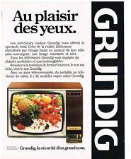 PUBLICITE  1980   GRUNDIG  téléviseur grand écran