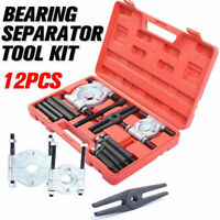 12pcs Bearing Splitter Gear Puller Fly Wheel with Box Separator Set Tool Kit AU