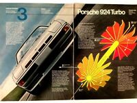 1980 Porsche 924 Turbo Vintage Print Ad Automobile Car