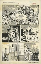 Marvel Graphic Novel 17 ORIGINAL ART Marc Silvestri Revenge LIVING MONOLITH 1985