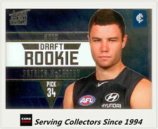 2011 Select AFL Infinity Draft Rookie Card DR9 Patrick McCarthy (Carlton)
