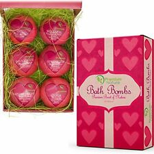 Bath Bombs Gift Set Essential Oil Handmade Spa Fizzies, With Cocoa Shea Butter,