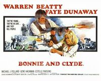 Bonnie and Clyde (1967) Poster Warren Beatty, Faye Dunaway 10x8 Photo