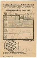 Concentration Camp Oranienburg Postal Receipt 1943