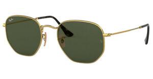 RAY BAN RB3548N Hexaganol Sunglasses Shades Frame 51mm ARISTA GOLD 001 G-15 Lens