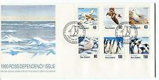 1990 Ross Dependency Issue New Zealand FDC Birds Polar Antarctic Cover