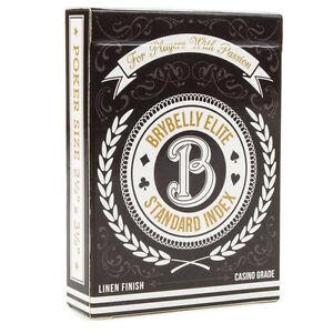 Brybelly Elite Medusa Deck - Poker Size - Regular Index - 1 Deck - Black