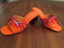 Hemingway Orange / Pink  Womens Size 5 Slip On Shoes / Sandals
