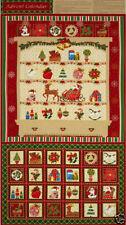 1 Fabric Panel Christmas Dresser Advent Calendar Fabric Panel - 4741M