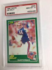 1989 Score Football Jim Kelly #223 PSA 10 GEM MINT !!