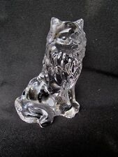 Lenox Full Lead Fine Crystal Sitting Cat - Nice Size with Frosted Base