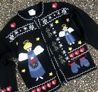 Vintage Heavenly Angel Ugly Christmas Sweater Religious Christian Holy Grail M L