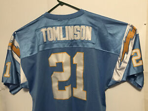 San Diego Chargers Ladainian Tomlinson 21 Mitchell  and Ness Footbal Jersey