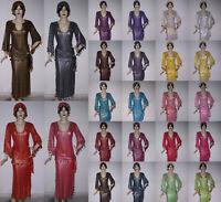 Belly Dance Baladi Galabeya Dress Costume Dancing Wear with 2 scarves T566N