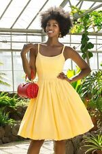 Pinup Couture for Pinup Girl Clothing Yellow Jenny Dress Size Medium