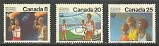 Canada #681-683, 1976 Olympic Games - Montreal Ceremonies, Complete Set NH