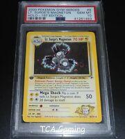 PSA 10 GEM MINT Lt. Surge's Magneton 8/132 1ST EDITION Gym Heroes Pokemon Card