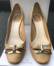 CHRISTIAN DIOR Ladies High Heels Beige/Caramel - Size 41/UK 8 - Patent Heels