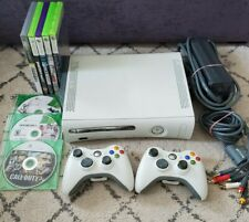 Huge Microsoft Xbox 360 20Gb White Console W/ 8 games 2 controlers Cords Bundle
