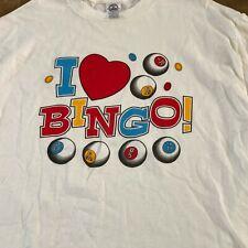 Bingo Player Fun Game Character Graphic Ladies Short Long Sleeve White T Shirt