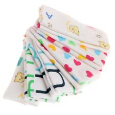 6Pcs Baby Towels Cartoon Handkerchief Bathing Feeding Face Washcloth Wipe Cloth