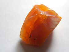 one 35mm RARE NATURAL ROUGH BRAZILIAN FIRE OPAL w/flash 19.35g;METAPHYSICAL#8