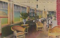 Postcard Porch Dining Room Keuka Lake Keuka Hotel NY