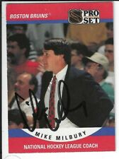 1990-91 ProSet Mike Milbury Boston Bruins Autograph Signed